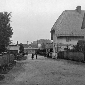 Houghton village road, c.1900