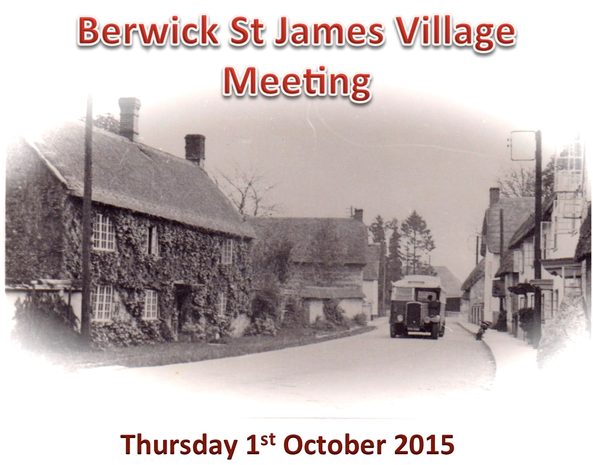 Berwick St James Parish Community 1 Oct '15