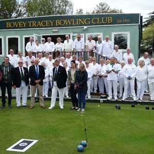 Opening the green 2017 Opening of the green by G Gribble watched by the family from Parkers Funeral Directors and bowling club members