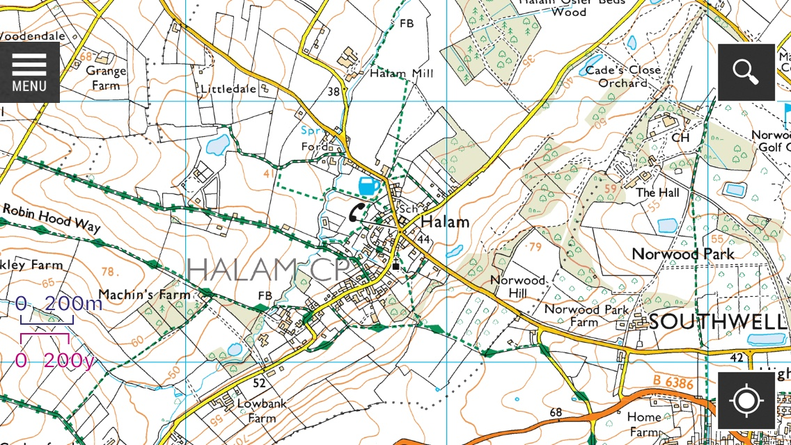 Footpaths Map