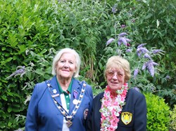 County President Janet and Club President Pam
