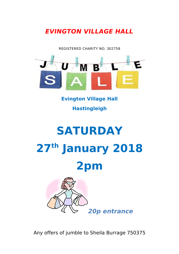 The Evington Hall Jumble Sale