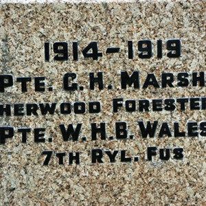 Bleasby Community Website St Mary's War Memorial