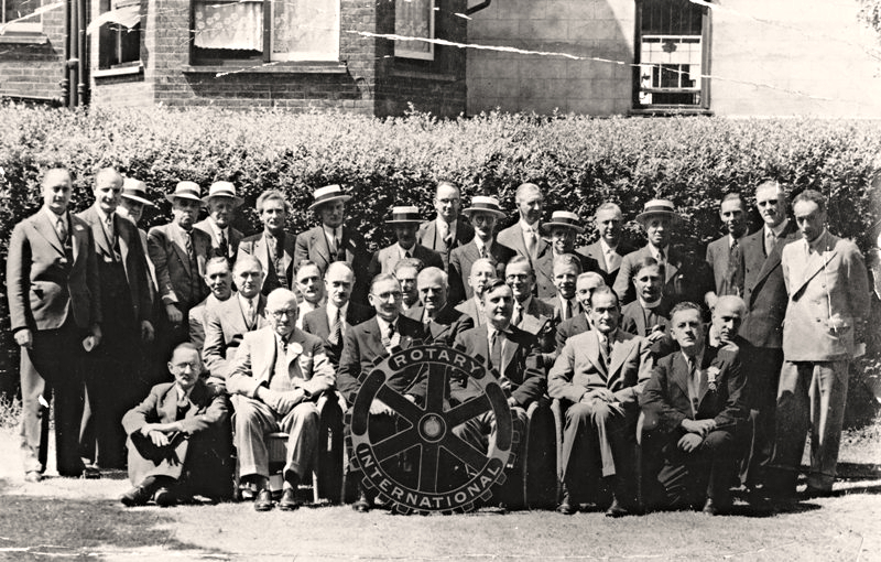 Members of Hertford Rotary Club in July 1939. The exact date is unknown but it cannot be more than two months before the outbreak of World War Two!