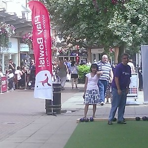 Bowls Roadshow in Daventry's Bowen Square