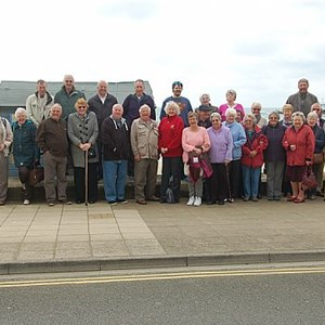 Group photo taken by our driver just before leaving Sandown for the ferry home.