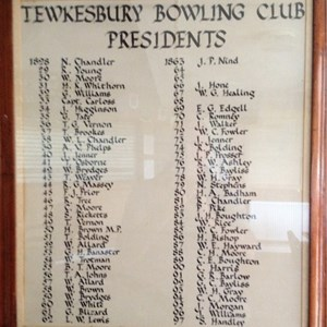 Tewkesbury Bowling Club Archive