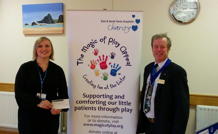 The Magic of Play appeal sponsored by Rotary Club Hertford