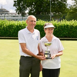 Gayle and Malcolm Hartley Winners Len Ellwood Pairs