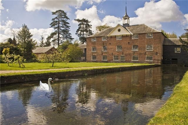 Whitchurch Silk Mill on the banks of the River Test