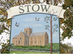 Stow Village Sign