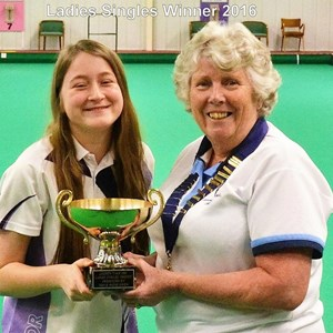 Ladies singles winner 2015 - 16