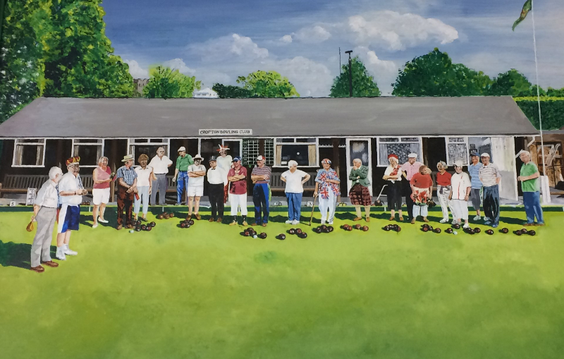 An image of a painting of our Club and some of our Members enjoying a Fun Day!