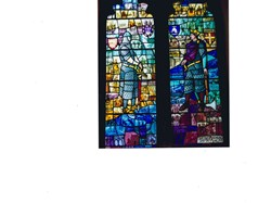 Commemorative window in St Mary's Church Battle