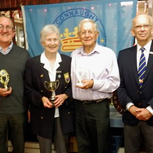 Bill Adcock, Diana Adcock & Steve Barclay Mixed Triples Winners 2016