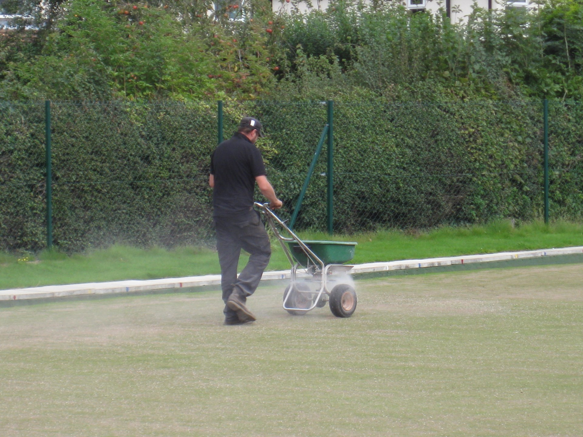 Finally, application of autumn fertiliser.