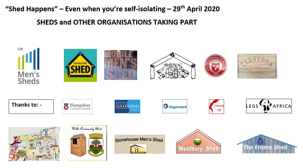 29th April 2020 - Sheds taking part