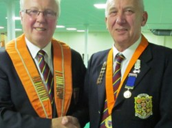 Tony Mace (right) new NBF  deputy president with county president Bob Warters.