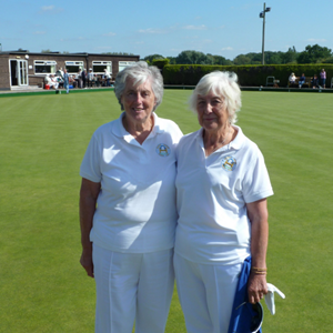 Betty Bell & Annette Oliver Pairs Final winners St Margarets Leicester