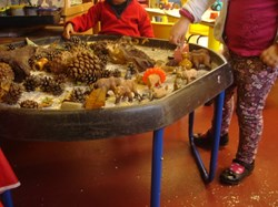 Sensory Tough Spot Tray at BH Sunshine Pre-School
