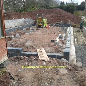 Footings and build start