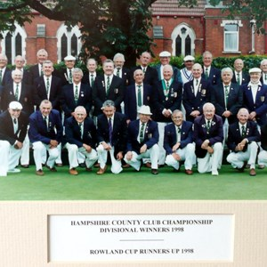 1998 Hampshire County Club Divisional Winners and Rowland Cup Runners-Up 1998