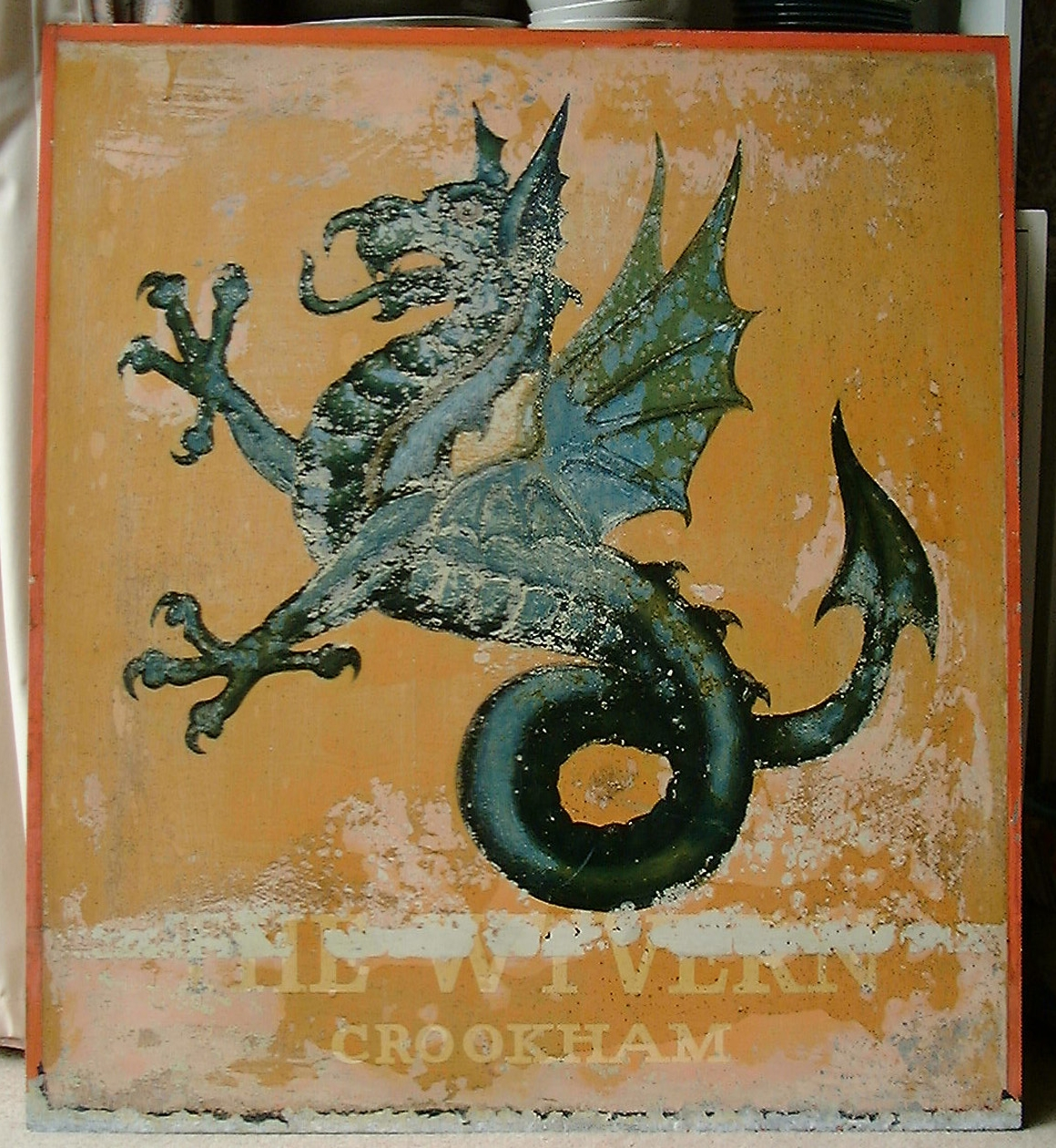 The Wyvern pub sign, Church Crookham, part of our logo