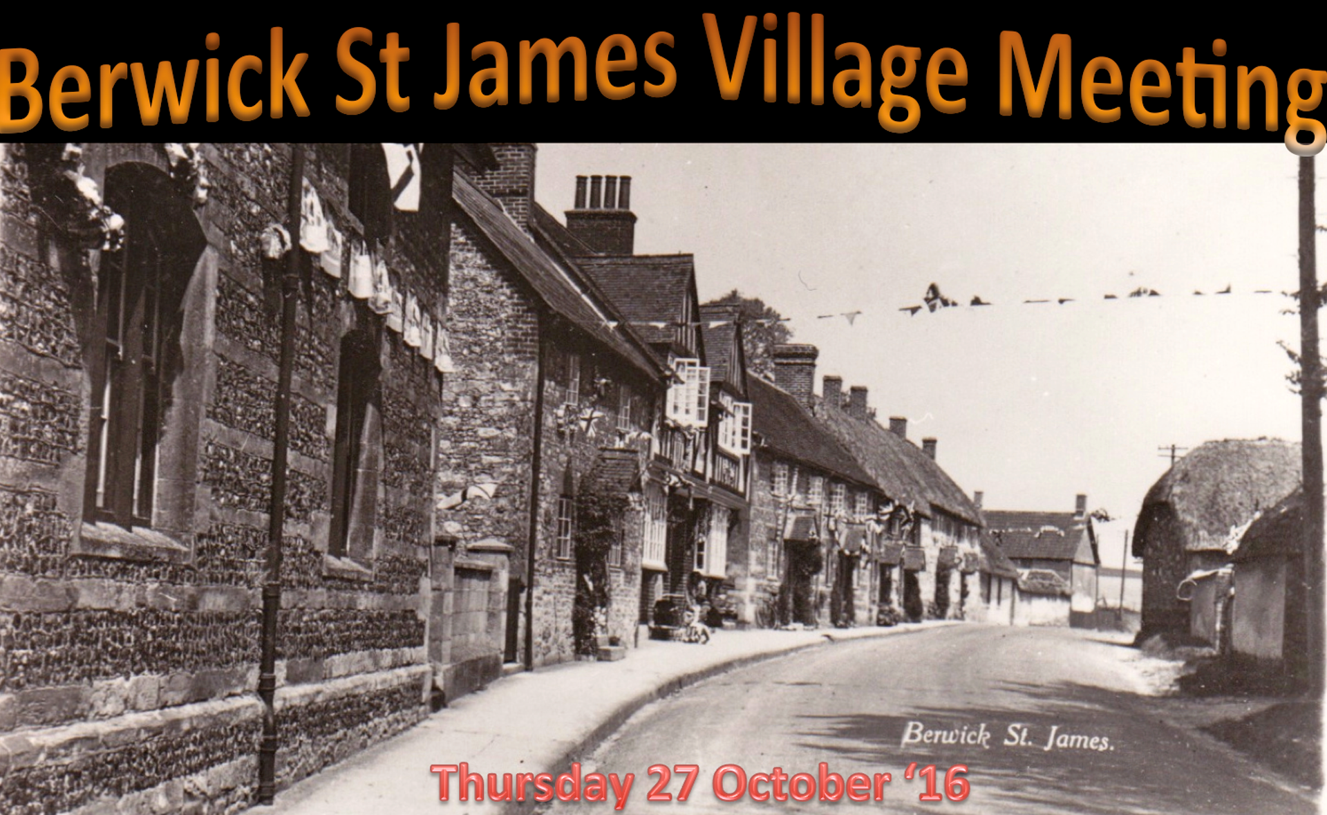 Berwick St James Parish Community Village Meeting - 27 October '16