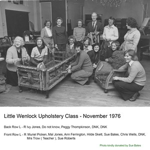 Upholstery Class - 1976, Little Wenlock Parish Council