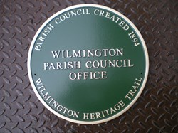 Wilmington Parish Council Green Plaques