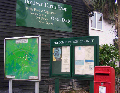 Noticeboard in front of Bredgar Farm Shop