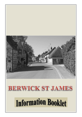 Berwick St James Parish Newcomers Welcome Booklet