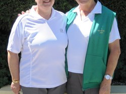Finalists in ladies two bowl singles