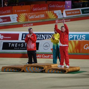 Rob Paxton winning th Bronze Medal at the commonwealth Games 2019