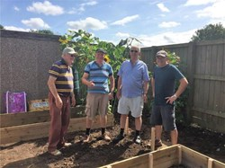 The RWB Shed Raised beds installed at RWB Academy
