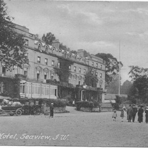 Old photo of the Pier Hotel