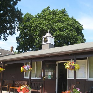 Market Bosworth Bowls Club Cupola and Clock:  July 2018