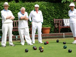Tiverton West End Bowling Club Rock Park visit West End 9-6-18