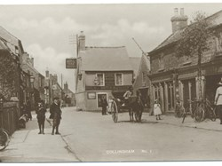 Collingham High Street at the turn of the 20th C