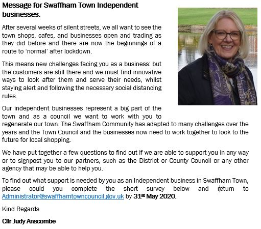 Swaffham Town Council Swaffham Business Survey