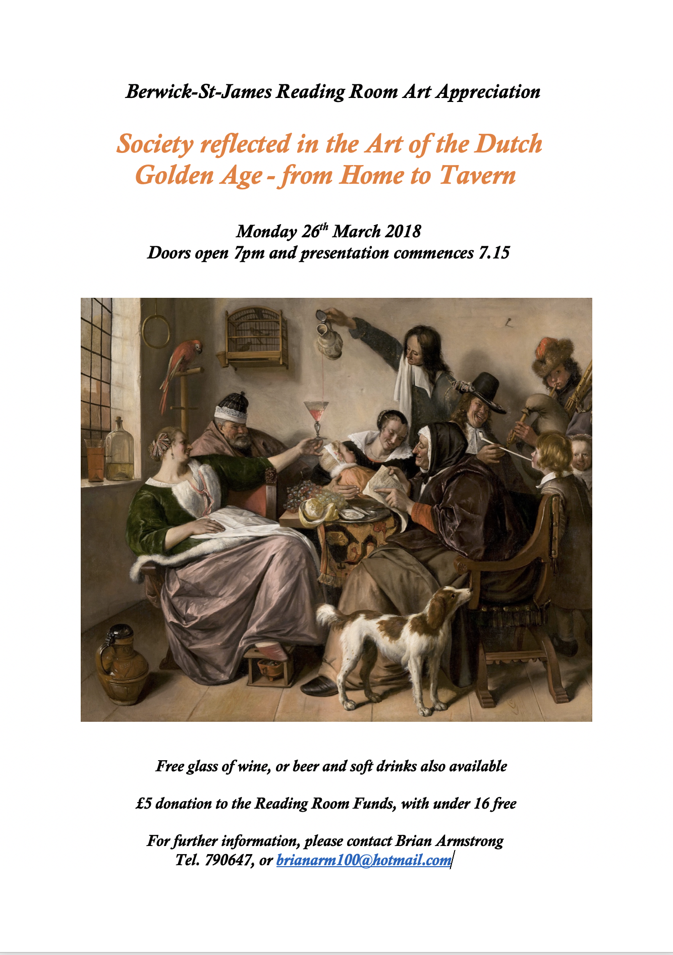 Berwick St James Parish Dutch Golden Age from Hom