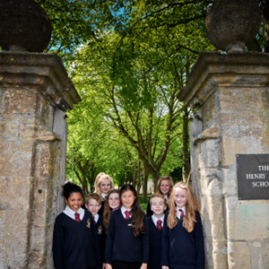Students at Henry Box School Gates