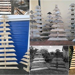 Nettlestone & Seaview Shed - Pallet Christmas Trees
