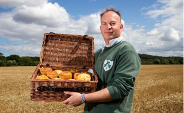 Ian from the Rutland Pie Company who won the Newark Trophy with some of his products.