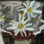 Daisies in a Coffee Cup acrylic on paper