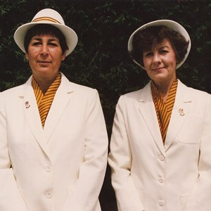 1993, 2001-2 GWBA Pairs Winners. Pam Margrett, Janet Bishop.