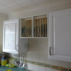 Plate rack fabricated and installed