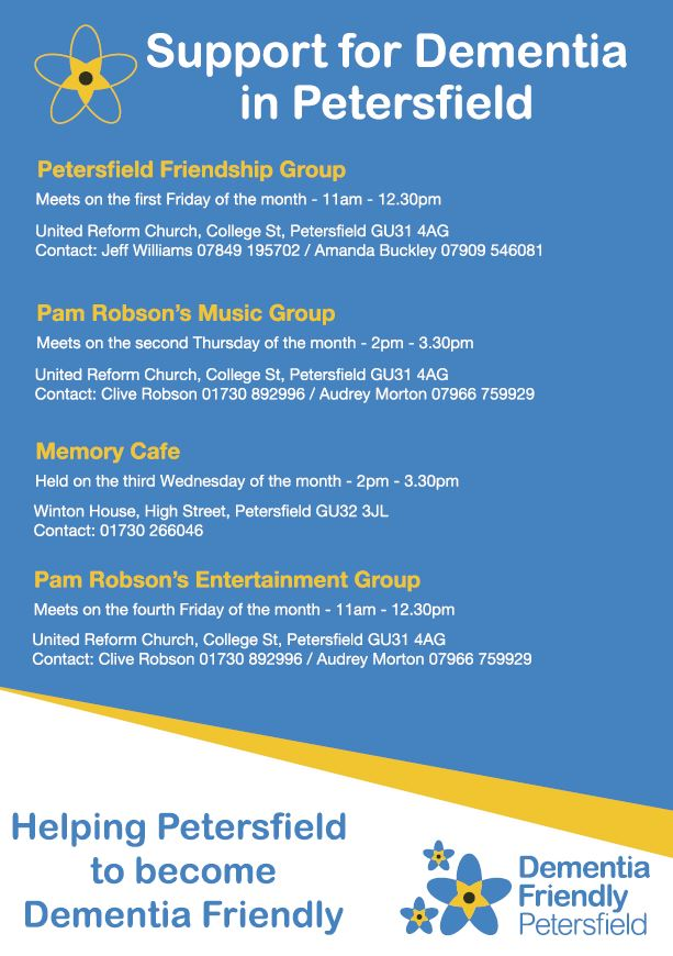 Dementia Friendly Petersfield Local Services
