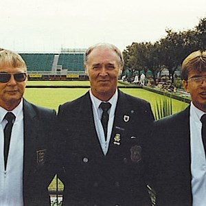 1992 GBA Triples Winners. Mike Booth, Mike Bishop, Richard Booth.