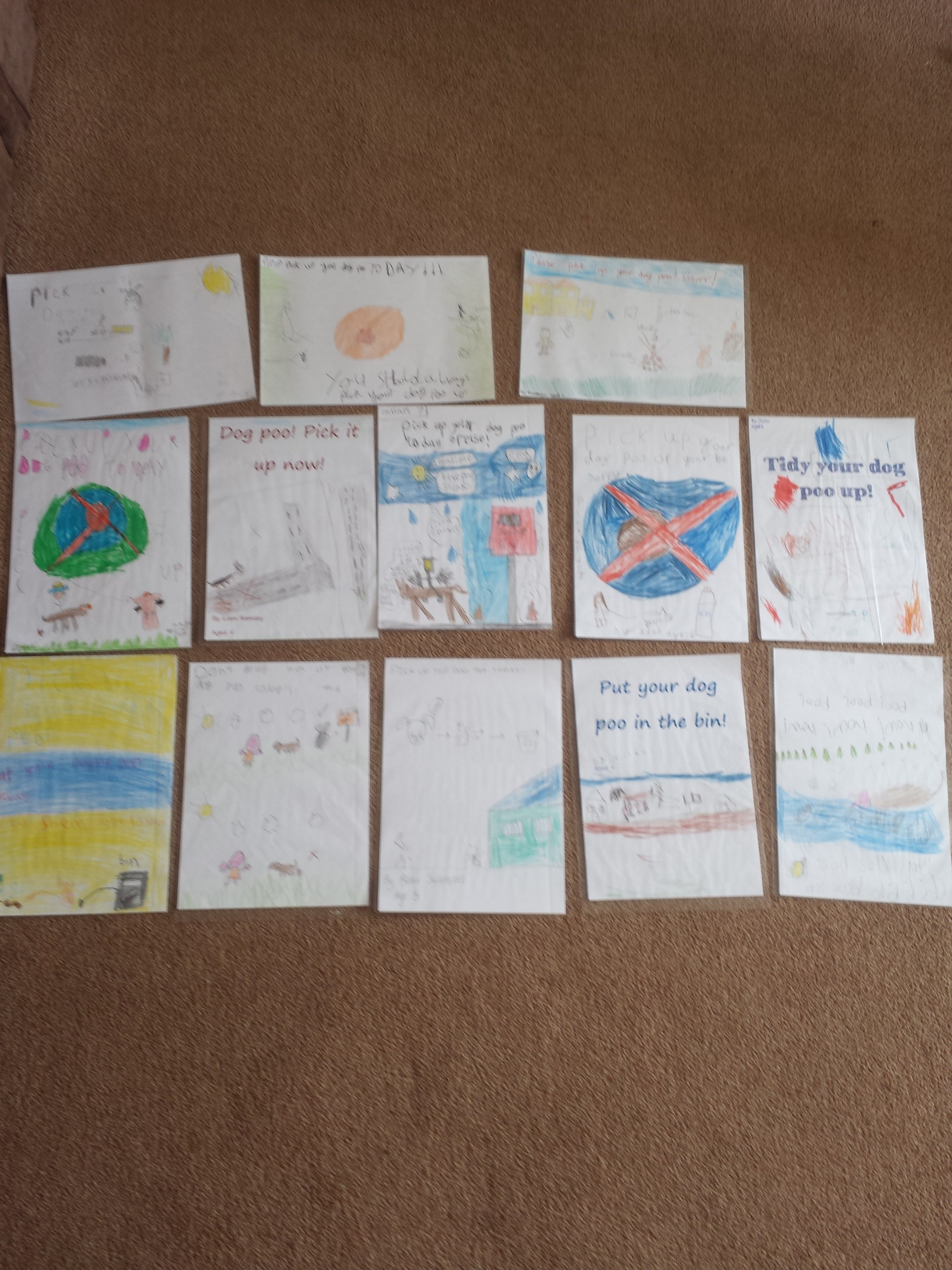 Posters designed by KS1 pupils
